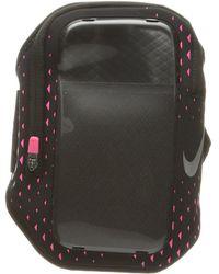 Nike - Pocket Arm Band (black/hyper Pink/silver) Athletic Sports Equipment - Lyst