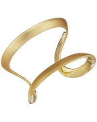 Cole Haan - Double Band Open Cuff Bracelet (matte/polished Gold) Bracelet - Lyst