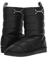 Love Moschino - Quilted Ankle Boot (black) Women's Pull-on Boots - Lyst