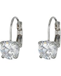 Cole Haan - Lever Back Cubic Zirconia Earrings - Lyst
