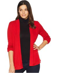 Anne Klein - Malibu Cardigan (marine Red) Women's Sweater - Lyst