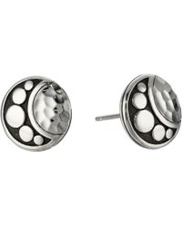 John Hardy - Dot Moon Phase Hammered Stud Earrings - Lyst