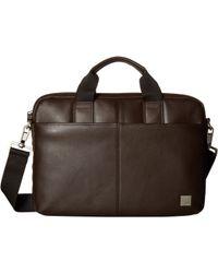 Knomo - Brompton Classic Stanford Slim Briefcase - Lyst