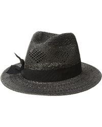 Lauren by Ralph Lauren - Pointelle Fedora With Bow Hat (black/black) Caps - Lyst