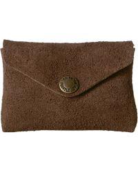 Filson - Rugged Suede Snap Wallet (dark Tobacco) Wallet Handbags - Lyst