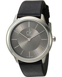 Calvin Klein - Minimal Watch - K3m221c4 (dark Grey/black) Watches - Lyst