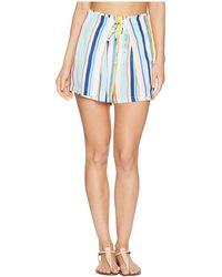 Nanette Lepore - Amalfi Coast High-waist Wrap Shorts Cover-up (multi) Women's Swimwear - Lyst