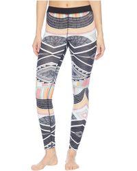 Roxy - Daybreak Base Layer Bottom (true Black Pop Snow Lines) Women's Casual Pants - Lyst