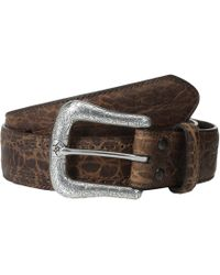Ariat - Western Basic Belt (black Deertan) Men's Belts - Lyst