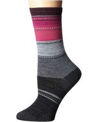 Smartwool - Sulawesi Stripe (medium Gray Heather/light Gray Heather) Women's Crew Cut Socks Shoes - Lyst