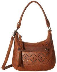 Frye - Melissa Studded Zip Hobo Crossbody Handbag - Lyst