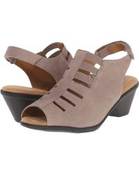 Comfortiva - Faye (smoke Distressed Foil Suede) Women's 1-2 Inch Heel Shoes - Lyst