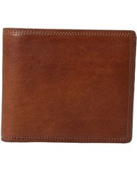 Bosca - Dolce Collection - Eight-pocket Deluxe Executive Wallet W/ Passcase (amber) Wallet Handbags - Lyst