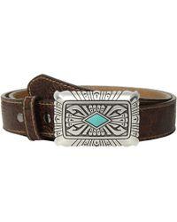 Ariat - Scroll Embossed Square Buckle Belt (brown) Women's Belts - Lyst