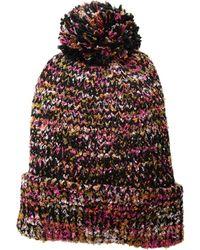 San Diego Hat Company - Knh3603 Yarn Cuff Beanie W/ Pom (multi) Beanies - Lyst