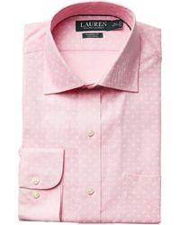 Lauren by Ralph Lauren - Classic Fit Non Iron Poplin Mini Paisley Print Spread Collar Dress Shirt - Lyst