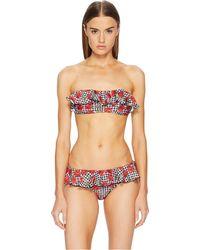 Moschino - Cherry Print Ruffle Bikini (turquoise) Women's Swimwear Sets - Lyst