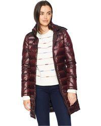 eab3651347a Calvin Klein - Walker Length Packable With Chunky Zipper Hardware (shine  Chianti) Women s Coat