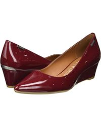 Calvin Klein - Germina (red Rock Patent) Women's Shoes - Lyst