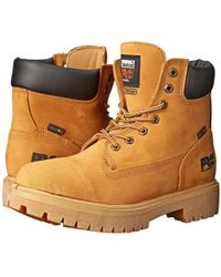 Timberland - Direct Attach 6 Soft Toe (wheat Nubuck Leather) Men's Work Lace-up Boots - Lyst