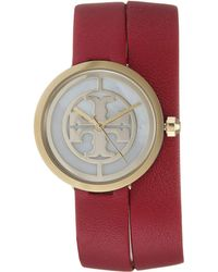 Tory Burch - Reva Mother-of-pearl Double Wrap - Tbw4031 (red) Watches - Lyst