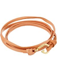 Miansai - Mini Hook Leather Bracelet - Lyst