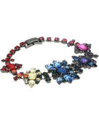 Steve Madden - Rainbow Casted Stone Star Link Bracelet (multi/gunmetal-tone) Bracelet - Lyst