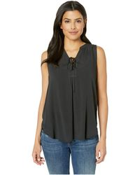 Stetson - 2912 Rayon Crepe Laced Tank Top - Lyst