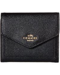 COACH - Crossgrain Leather Small Wallet (li/black) Wallet Handbags - Lyst