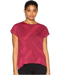 Brooks - Array Short Sleeve Shirt (plum Eclipse Jacquard) Women's T Shirt - Lyst