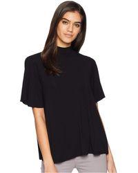 Michael Stars - Jersey Lycra Short Sleeve Mock Neck Top (black) Women's Clothing - Lyst