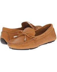 Massimo Matteo - Tie Driver (tan Bison Leather) Women's Slip On Shoes - Lyst