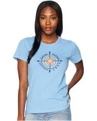Life Is Good. - Sun Compass Crusher Tee (powder Blue) Women's T Shirt - Lyst