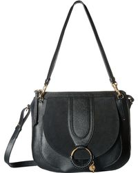 See By Chloé - Hana Large Suede & Leather Tote - Lyst