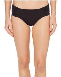 Tommy Bahama - Pearl High-waist Side-shirred Bikini Bottom (black) Women's Swimwear - Lyst