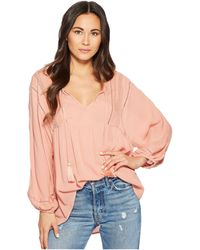 Amuse Society - Cool Breeze Woven Top (desert Rose) Women's Clothing - Lyst