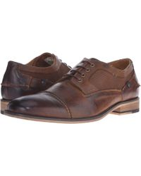 3c0d8aed6e8 Steve Madden - Jagwar (tan Leather) Men s Lace Up Wing Tip Shoes - Lyst