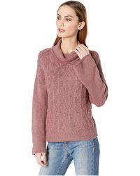 Lucky Brand - Pointelle Turtleneck Sweater (cream) Women's Sweater - Lyst