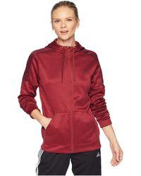 adidas - Team Issue Full Zip Hoodie (noble Maroon/night Red) Women's Sweatshirt - Lyst