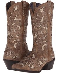 Laredo - Sharona (tan Crackle) Cowboy Boots - Lyst