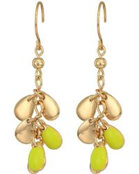 French Connection - Shaky Cluster Drop Earrings (neon Yellow) Earring - Lyst