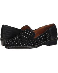 The Kooples - Suede Slippers Decorated With Studs (black) Women's Slip On Shoes - Lyst