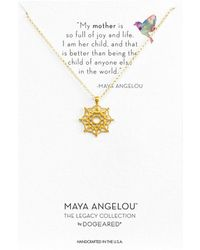 Dogeared - Maya Angelou: Mom Me Necklace (gold Dipped) Necklace - Lyst