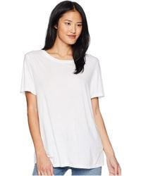 Michael Stars - Essential Crew Neck Tee (white) Women's Clothing - Lyst
