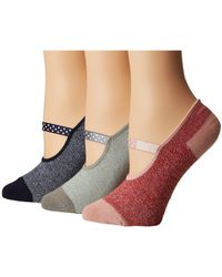 Sperry Top-Sider - Mary Jane Liners 3-pack (pink Marl Assorted) Women's No Show Socks Shoes - Lyst