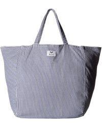 Roxy - Time Is Now Tote (dress Blue Cornfield Stripe) Tote Handbags - Lyst