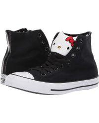 958b6c725a3f Lyst - Converse Chuck Taylor All Star Ox - Hello Kitty (black white ...