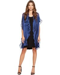 Lauren by Ralph Lauren - Penelope Ruffle Wrap (blue Night) Women's Clothing - Lyst