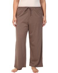 Jockey - Cotton Essentials Plus Size Long Pajama Pant (truffle) Women's Pajama - Lyst
