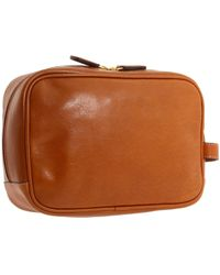 Bric's - Life Pelle Traditional Leather Shave Case (cognac/leather) Wallet - Lyst